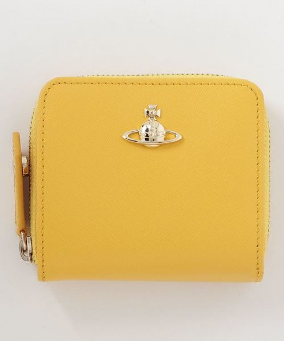 51080020 YELLOW Peazenka VIVIENNE WESTWOOD PIMLICO MEDIUM ZIP WALLET