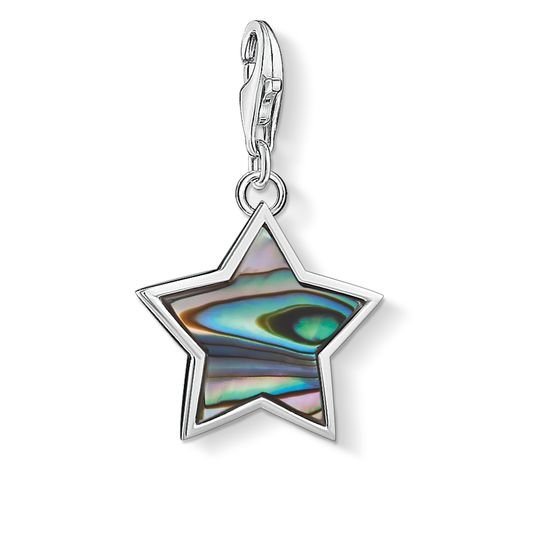 Prívesok THOMAS SABO STAR ABALONE MOTHER-OF-PEARL TURQUOISE