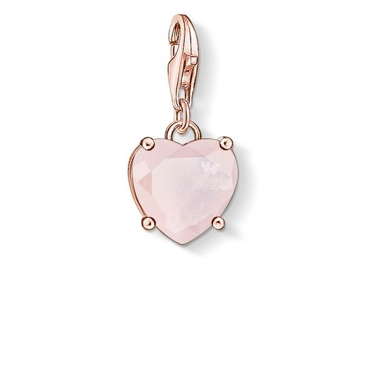 Prívesok THOMAS SABO HEART WITH HOT PINK STONE