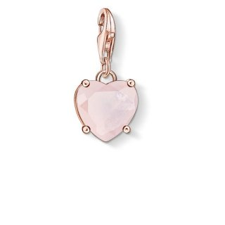 1565 536 9 Privesok THOMAS SABO HEART WITH HOT PINK STONE