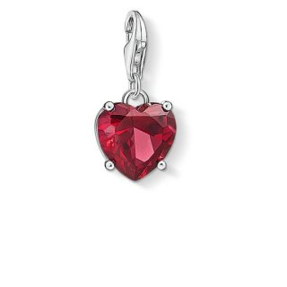 1566 011 10 Privesok THOMAS SABO HEART WITH RED STONE