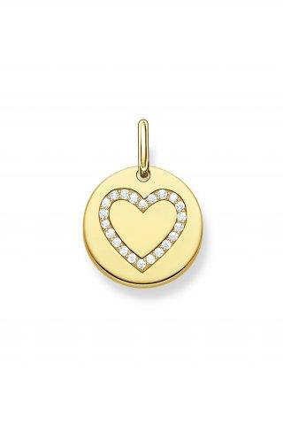 LBPE0005 414 14 Zlaty okruhly privesok THOMAS SABO so srdieckovym symbolom2