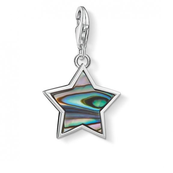 1533 509 7 Privesok THOMAS SABO STAR ABALONE MOTHER OF PEARL TURQUOISE