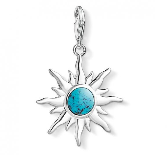 1535 404 17 Privesok THOMAS SABO SUN WITH TURQUOISE STONE