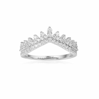 A18275OX Prste APM MONACO Dentelle Silver Ring