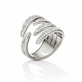 3R15S061C Strieborny prste FOLLI FOLLIE s kristami