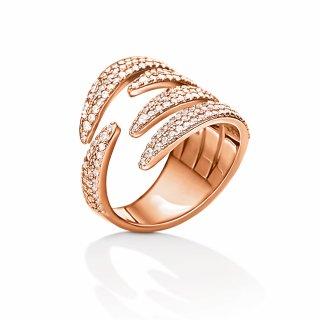 3R15S061RC Ruzovy prste FOLLI FOLLIE s kristami