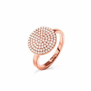 3R17S064RC Prste FOLLI FOLLIE Discus Rose Gold Plated Large Ring