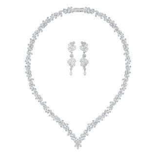 5142738 Set SWAROVSKI nausnice a nahrdelnik s cirymi kristalmi